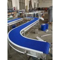 45度65度90度180度转弯循环塑料链板输送线
