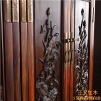 手工浮雕雕刻精美济宁王义红木顶箱柜大红酸枝衣柜