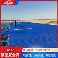 山东邹城防腐彩板 塑钢复合板 asp钢塑复合瓦现货供应
