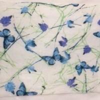 泉州工厂国风蝴蝶印花款 水刺无纺布 支持定制各种图案