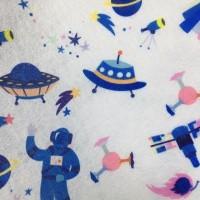 福建工厂印花水刺无纺布大人印花太空图案口罩布厂家定制口罩布