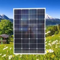 广东晶天太阳能光伏板LED太阳能路灯发电板100W太阳能板