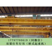 安徽芜湖欧式双梁行吊厂家销售10吨垃圾抓斗行吊