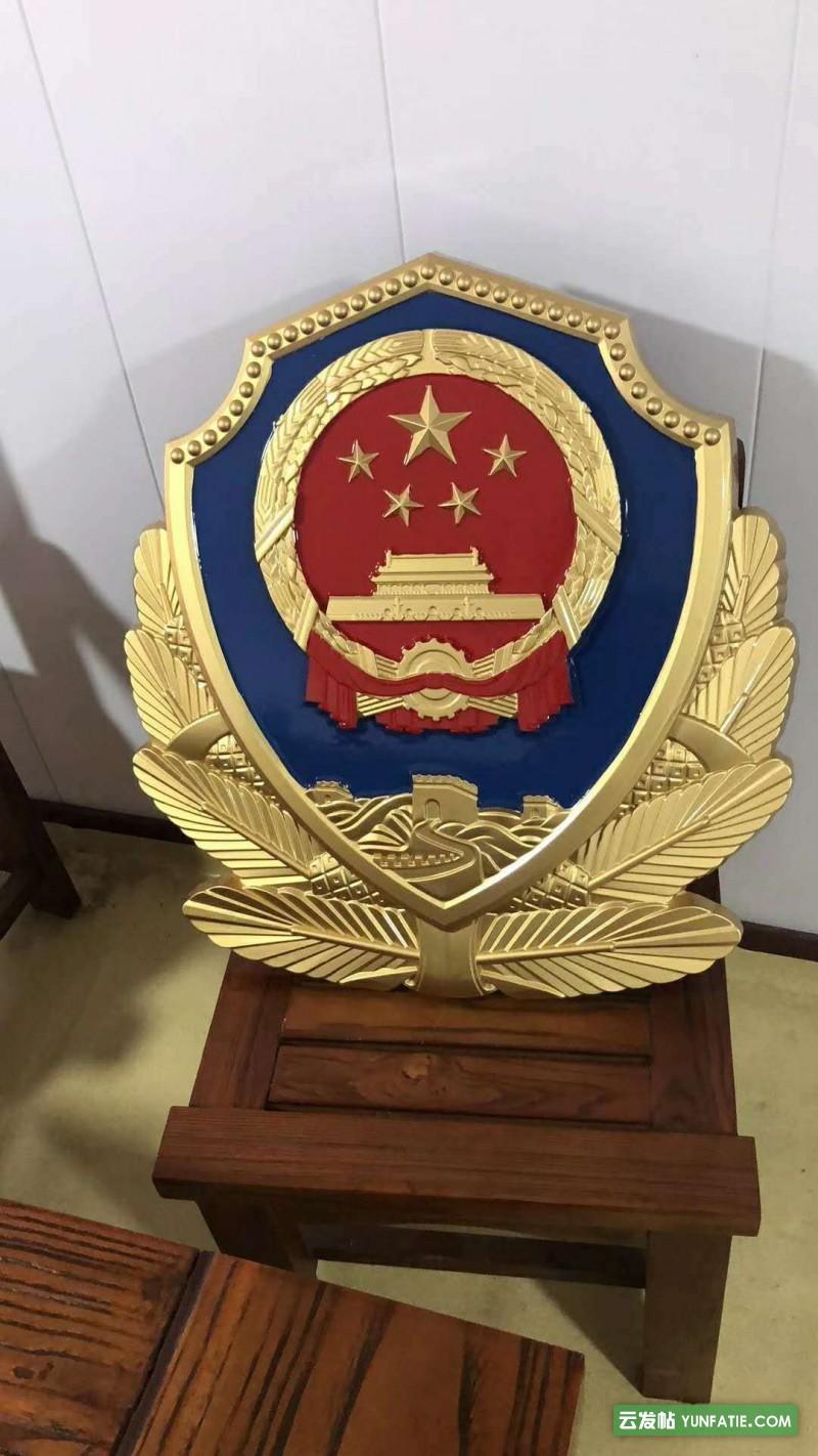大型警徽哪里有賣_專業定制大型2米3米4米警徽廠家