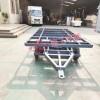 3吨骨架式平板拖车带上翻刹车